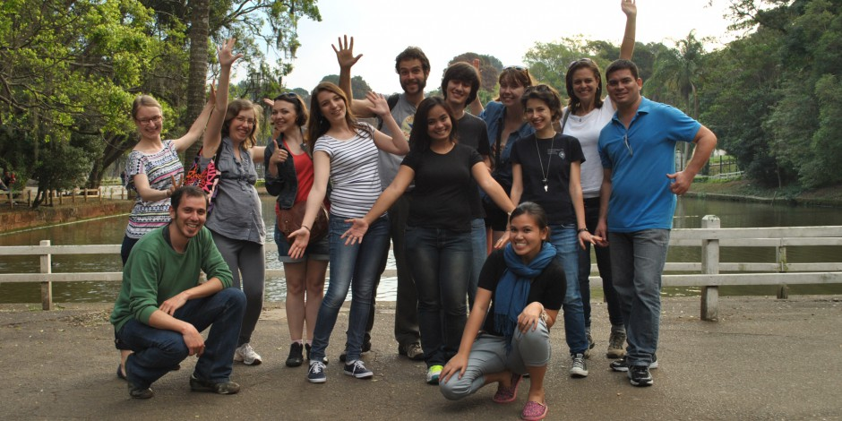 The group of participants in Sao Paulo